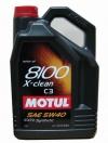 5w40 MOTUL 8100 X-clean C3 5л синтетика